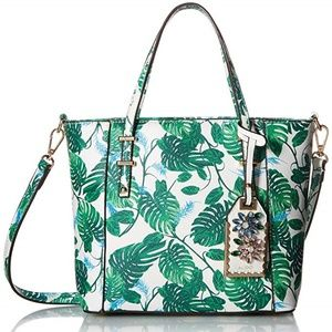 Aldo Boarie Tropical Leaf Tote Bag